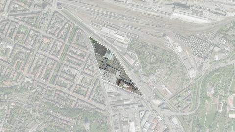 Hosoya Schaefer Architects Nordspitze Basel Migros Genossenschaft Situation